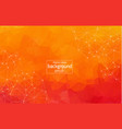 abstract orange geometric polygonal background vector image vector image