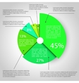 Abstract pie chart graphic vector image