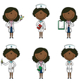 African-American Doctor vector image vector image