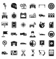 auto garage icons set simple style vector image vector image