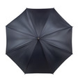 black open umbrella in top view mockup template vector image vector image