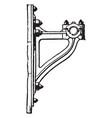 bracket wall mounts vintage engraving vector image vector image