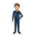 business man in suit clothes standing character vector image vector image