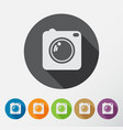 camera icons set with long shadow flat style vector image vector image