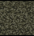 camouflage style knitted pattern in dark green vector image vector image
