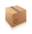 cardboard box on white background vector image