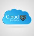 Cloud computing concept design vector image vector image