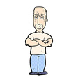 comic cartoon angry man with mustache vector image vector image