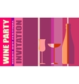 Design for wine event Wine event party invitation vector image vector image