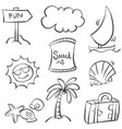 doodle summer element hand draw vector image vector image