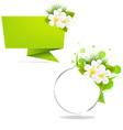 eco origami paper vector image