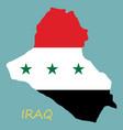 Flag map of iraq