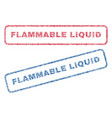 flammable liquid textile stamps vector image vector image