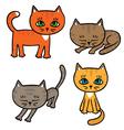 Four little kittens vector image