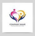 healthy care logo design modern foundation