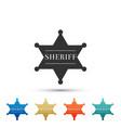hexagonal sheriff star icon on white background vector image