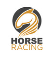 horse racing colorful logo emblem isolated on vector image vector image