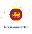 independence day of sri lanka patriotic banner vector image