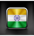 India icon flag national travel icon country vector image