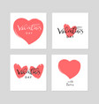 lovely valentine s day vector image vector image