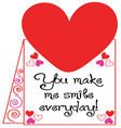 Make Me Smile vector image vector image