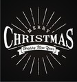 Merry Christmas Typography vector image
