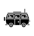 minivan travel - family car icon vector image vector image