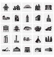 modern and old buildings set on squares background vector image