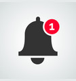 notification bell icon inbox message vector image vector image