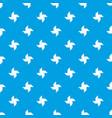 origami shuriken pattern seamless blue vector image
