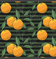 pattern of hand drawn oranges slices vector image vector image