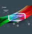 presentation cover design colorful abstract vector image vector image