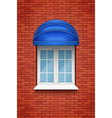 pvc arch window with awning vector image