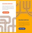 railroad banner vecrtical set vector image
