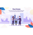 real estate investment flat promo banner vector image