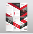 red black triangle business trifold leaflet vector image vector image