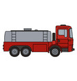 red tank truck vector image vector image