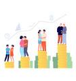 retirement savings plan smart retired pension vector image