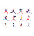 running people flat man and woman business vector image vector image