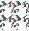 seamless pattern tile cartoon with toy panda vector image