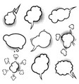 set empty comic style speech bubbles vector image vector image
