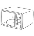 set of microwave oven vector image vector image