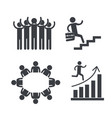 set people group with business teamwork vector image