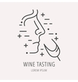 Simple Logo Template Wine vector image vector image