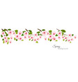 spring nature panorama with a pink blooming vector image vector image