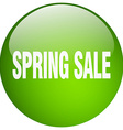 spring sale green round gel isolated push button vector image vector image