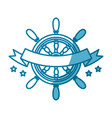 steering ship boat vector image vector image