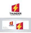 thunder power logo design vector image vector image