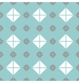 Tile mint green grey and white pattern vector image vector image