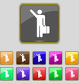tourist icon sign Set with eleven colored buttons vector image vector image